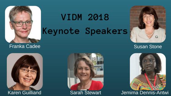 VIDM 2018 Keynote Speakers