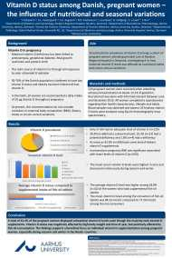 poster: Vitamin D status among Danish pregant women