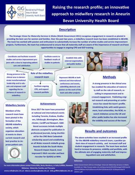 poster: Raising the research profile
