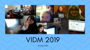 VIDM 2019 date and image of participants