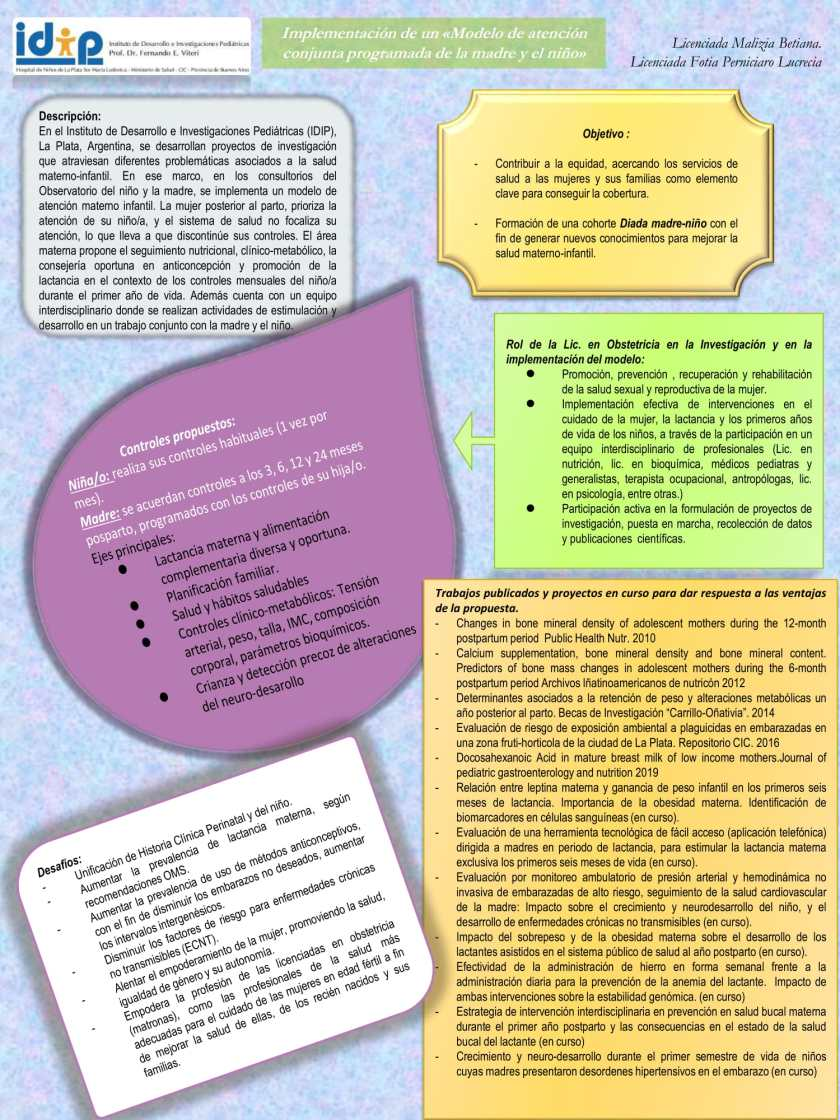 Poster: Implementation of a conjoined model of care for mother and baby (Spanish)