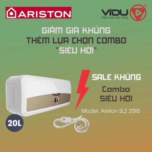 Binh nong lanh gian tiep Ariston 20L SL2 20 RS 2
