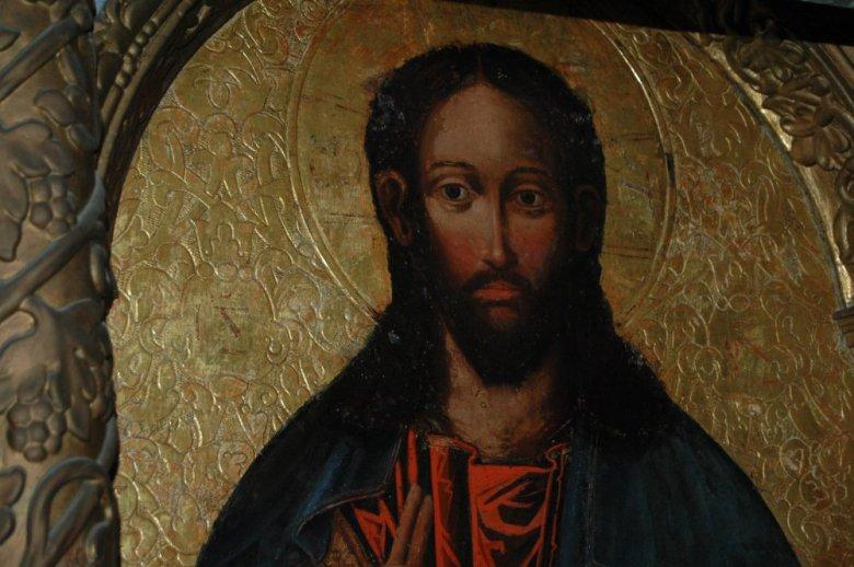 Отреставрированный образ Иисуса Христа