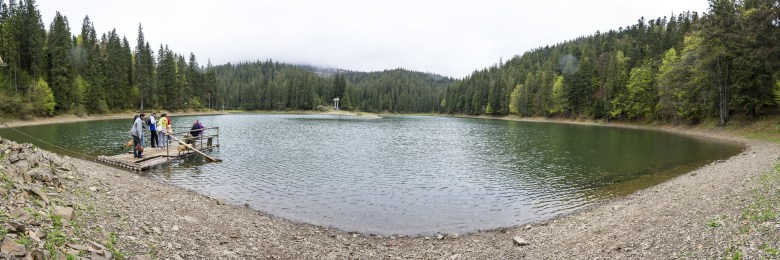 Synevyr lake panoramic view