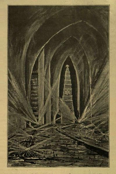 Подземная часть шахты «Кунигунда» с обелиском