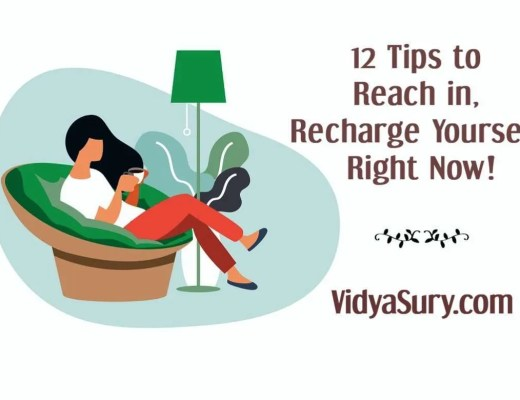 12 tips to reach in and recharge yourself right now