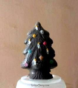 Chocolate Christmas Tree at home