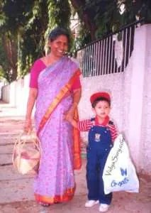 Mom and Vidur at age 4