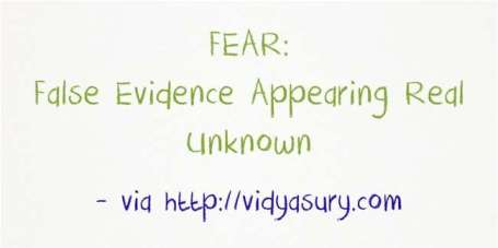 Fear, False Evidence Appearing Real