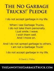 Pledge The law of the garbage truck