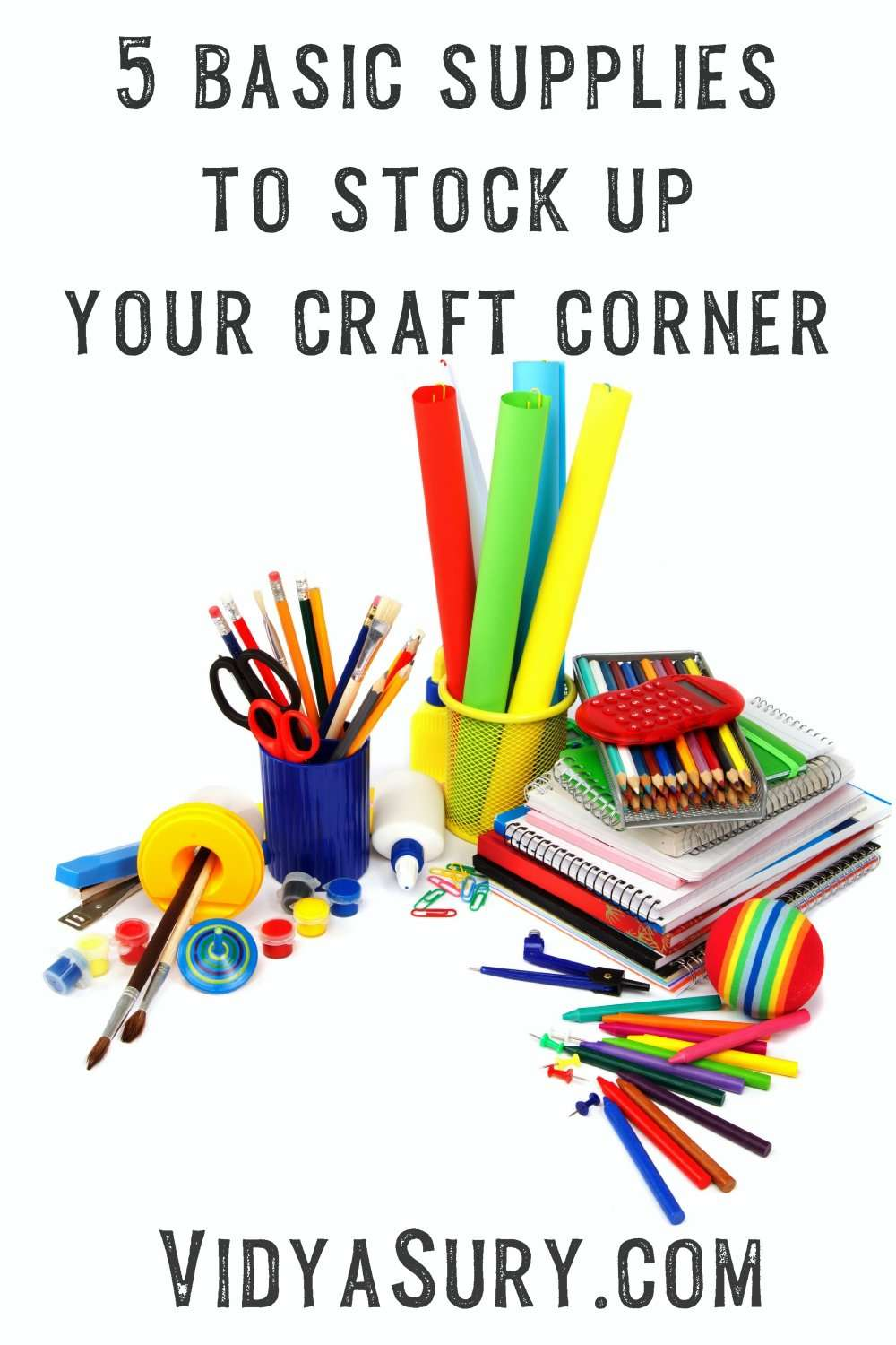 5 basic supplies you need for setting up your craft corner