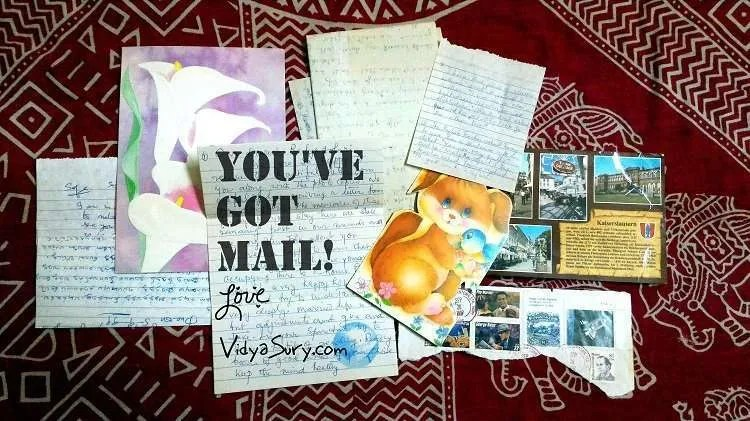 Handwritten letters are such a treasure. Snailmail rocks! Vidya Sury