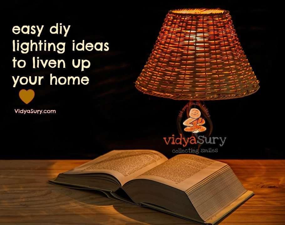 DIY lighting ideas vidya sury
