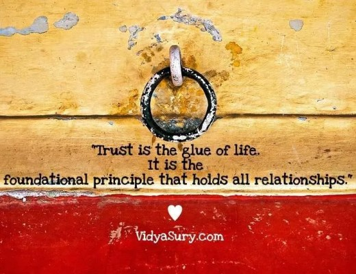 A trust built over the years Vidya Sury