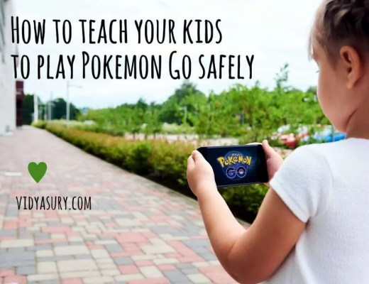 Pokemon Go safety tips for kids Vidya Sury 1