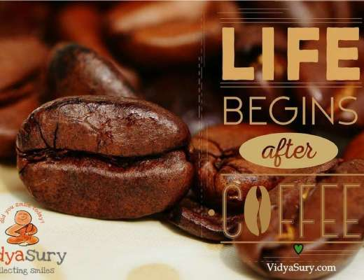Coffee beans and Cappuccino makers Vidya Sury