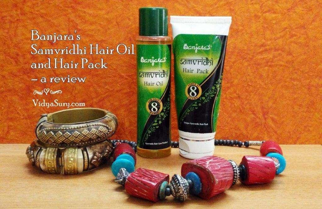 Banjaras Samvridhi Hair Oil and Hair Pack – review Vidya Sury (9)
