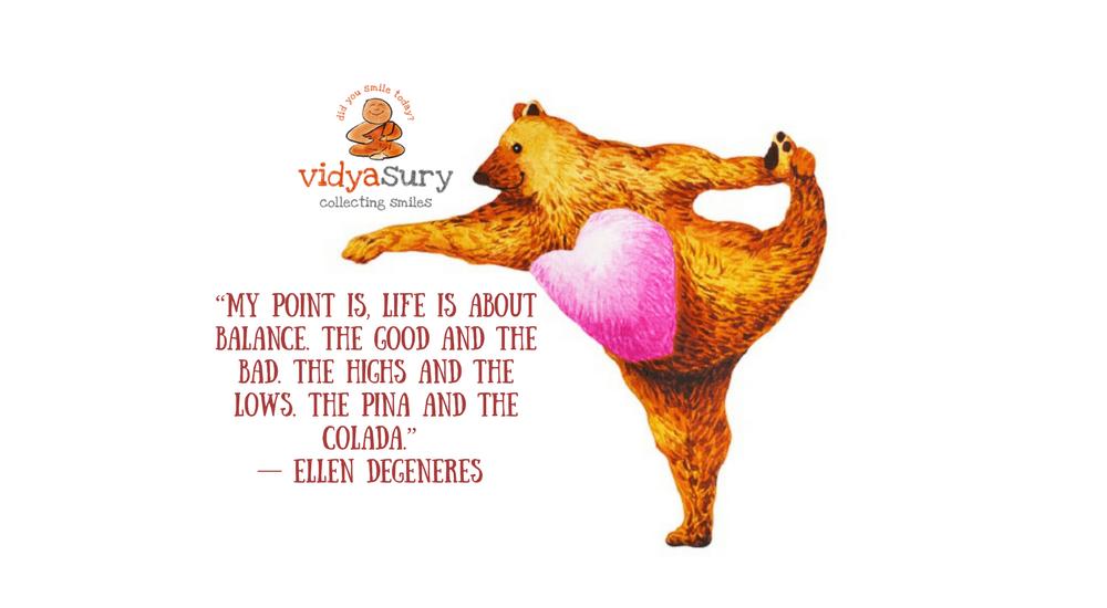 Life is all about balance Vidya Sury 1