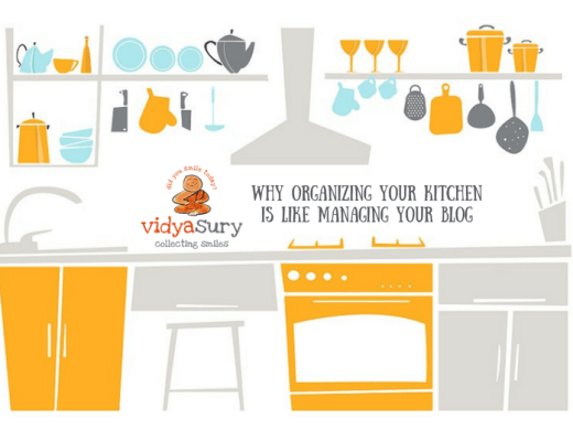why organizing your kitchen is like managing your blog