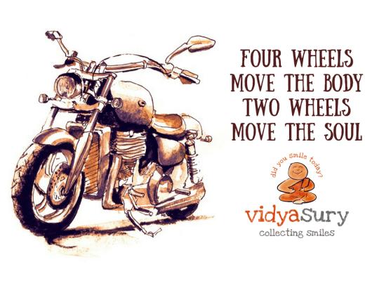 Commuting by motorcycle Vidya Sury