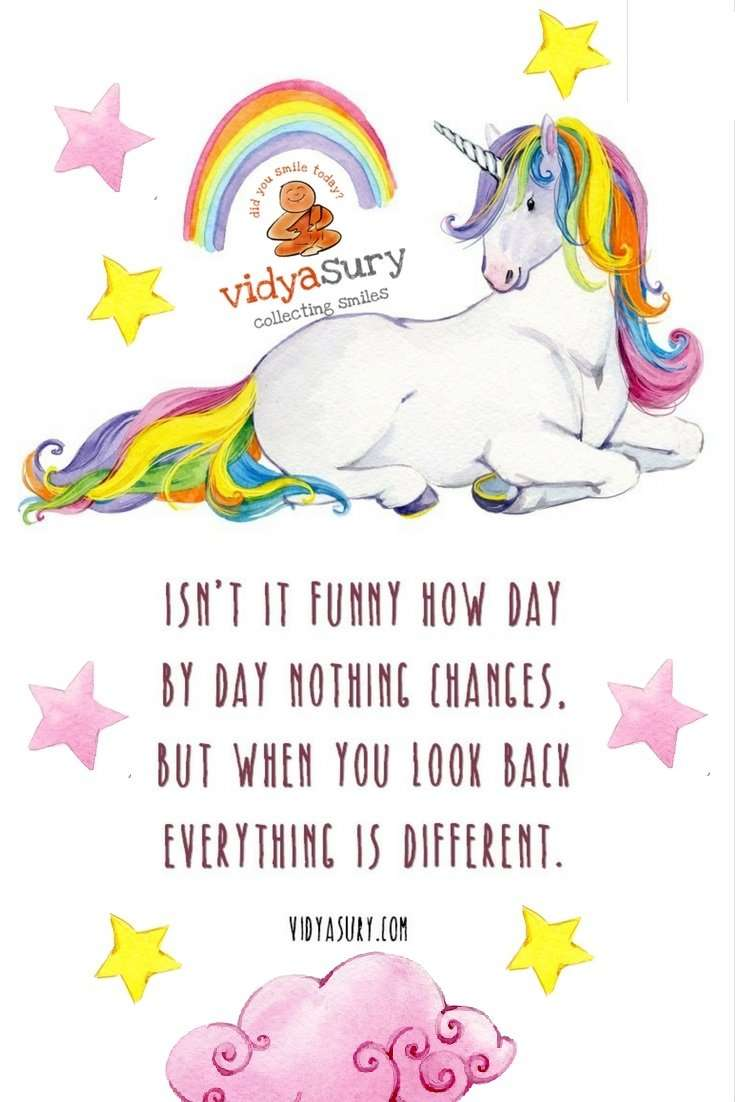 Isn't it funny how day by day nothing changes, but when you look back everything is different.? #mindfulness #selfhelp #personaldevelopment #quotes