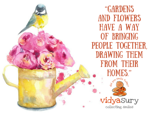 """Gardens and flowers have a way of bringing people together, drawing them from their homes."" 4 tips to give your garden a quick makeover #gardening #tips"