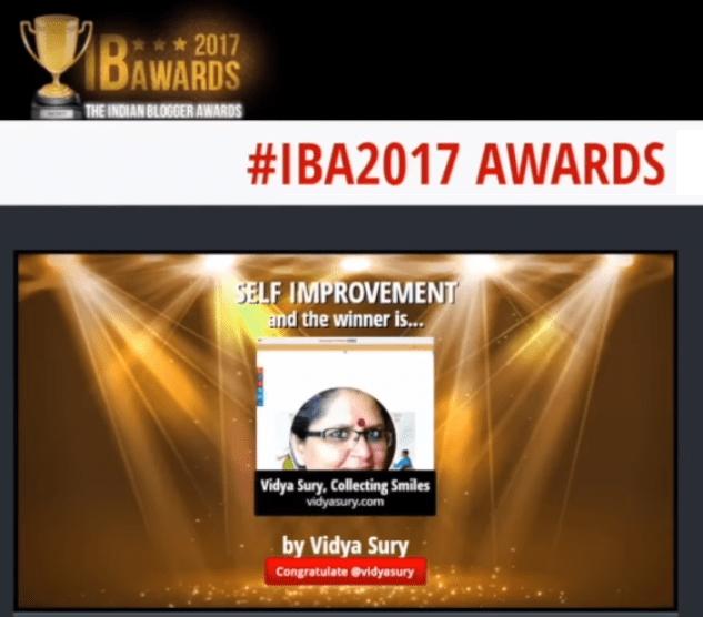 Vidya Sury IBA2017 Gratitude Circle