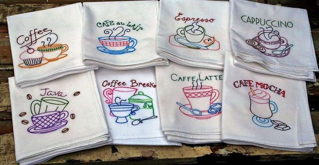 Embroider your flour sack towels