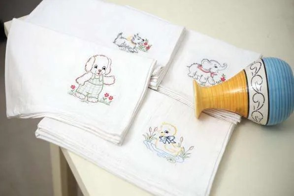 Enjoy hours of craft with flour sack towels