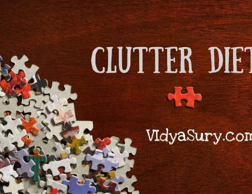 Clutter Diet #AtoZChallenge #declutter