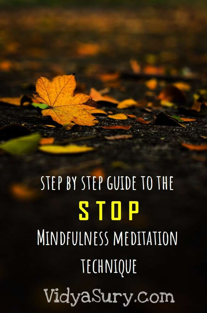 STOP mindfulness meditation technique #mindfulness #WednesdayWIsdom