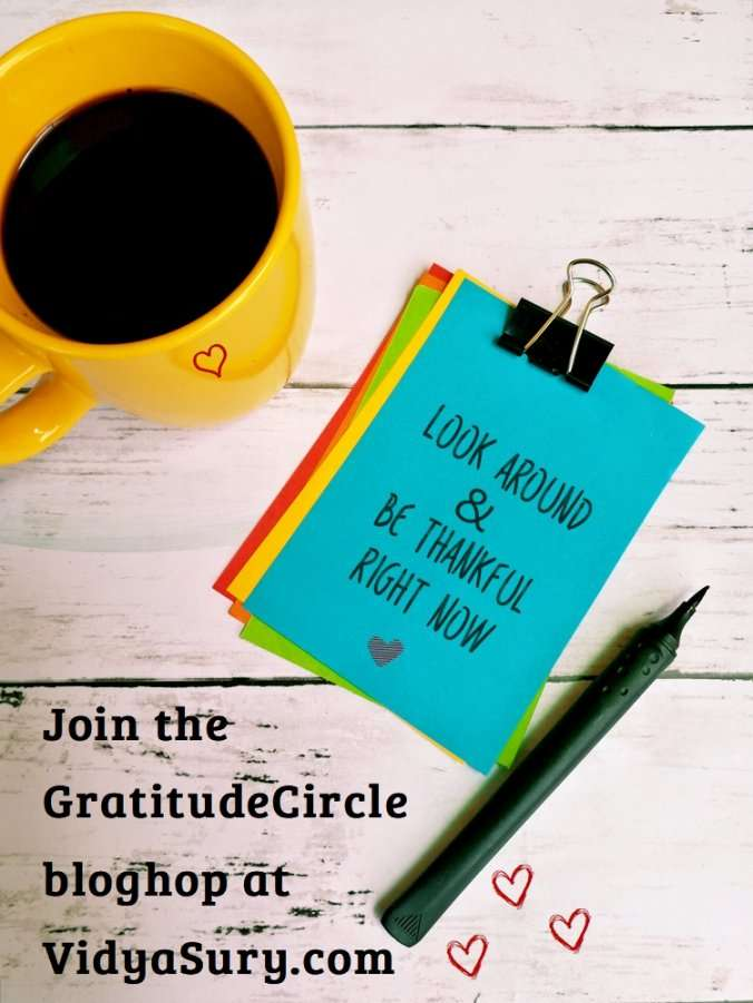 Look around and be thankful right now. #GratitudeCircle #bloghop #linkparty #mindfulness