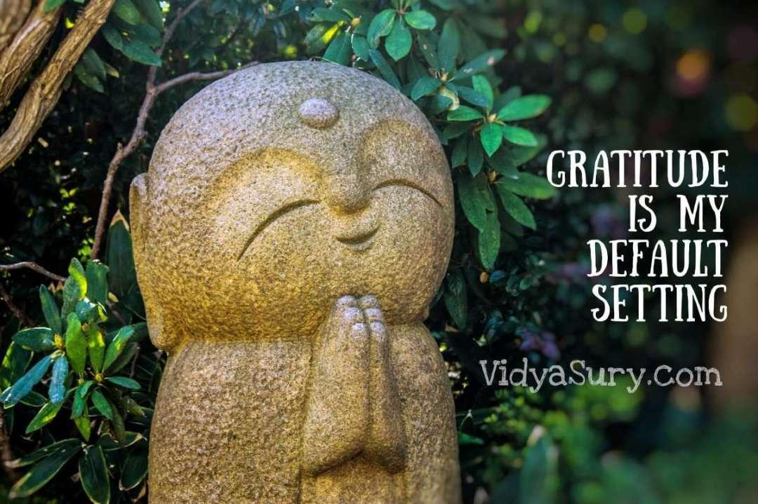 Gratitude is my default setting #GratitudeCircle