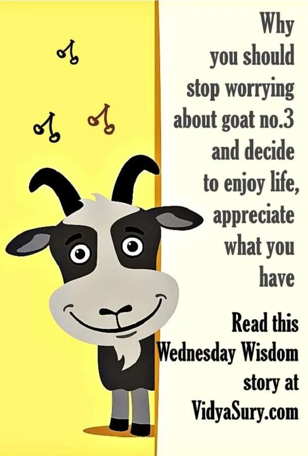 Are you looking for goat number 3? #WednesdayWisdom #Mindfulness