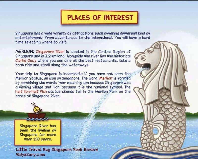 Places of Interest Little Travel Bug Singapore #BookReview #Travel #Childrensbooks