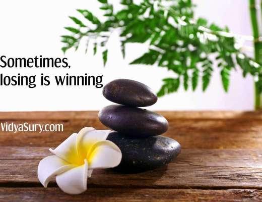 Sometimes losing is winning
