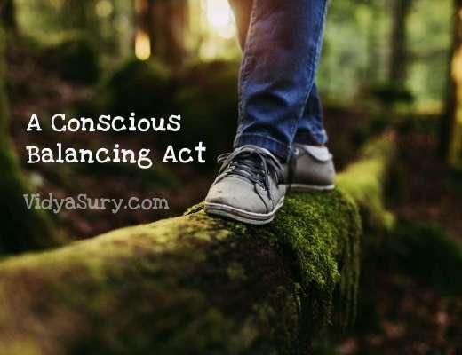A Conscious Balancing Act #gratitudecircle #bloghop