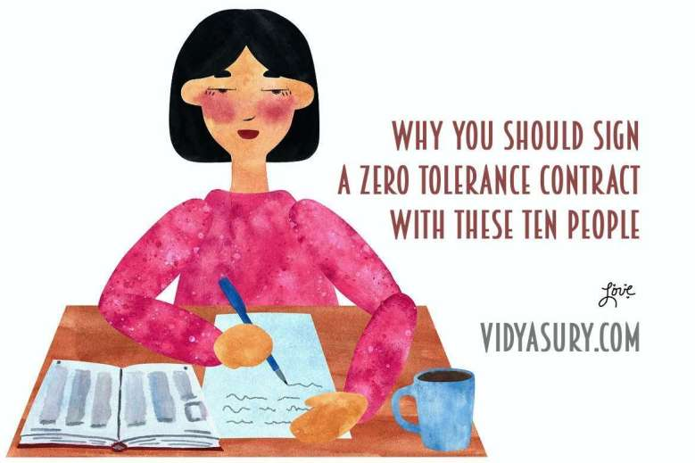 Sign a zero tolerance contract with these ten people