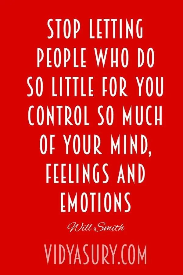 Stop letting people control you