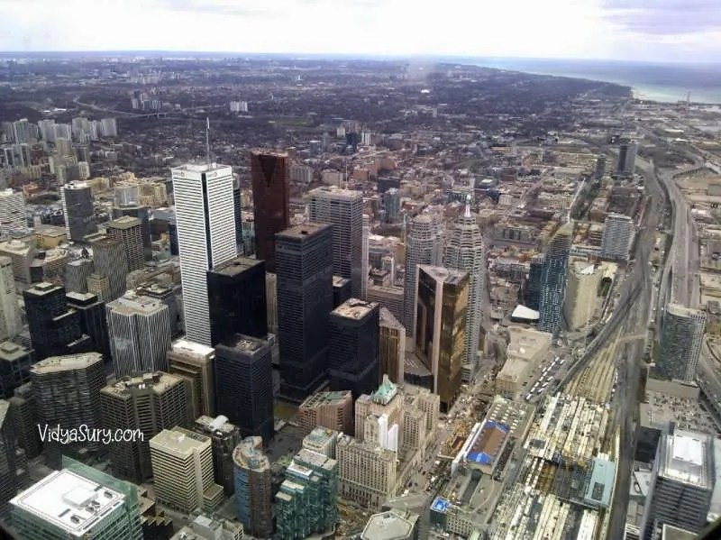 view from CN Tower Toronto 10 destinations I would love to visit again