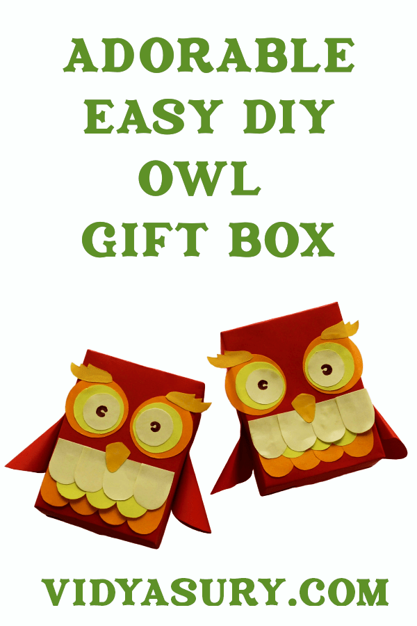 Adorable easy DIY owl gift box you will love