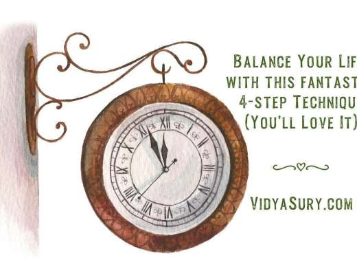 Balance your life with this 4 step technique today
