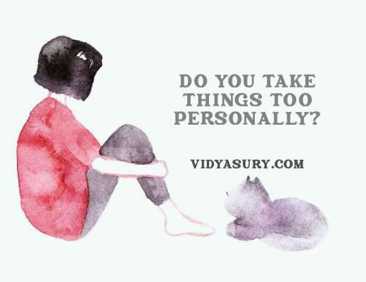 Do you take things too personally