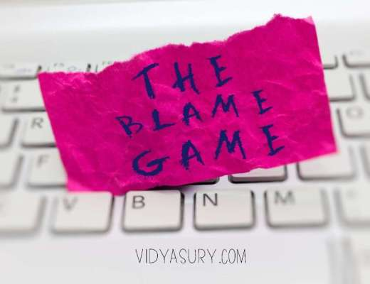 What is the blame game? How do you stop playing the blame game?