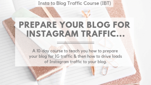 Insta to Blog Traffic Course