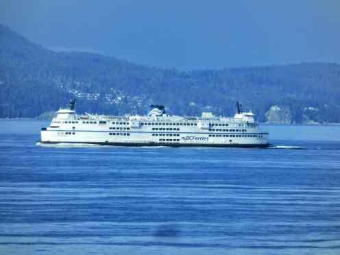 Arrivée en ferry de Vancouver Island