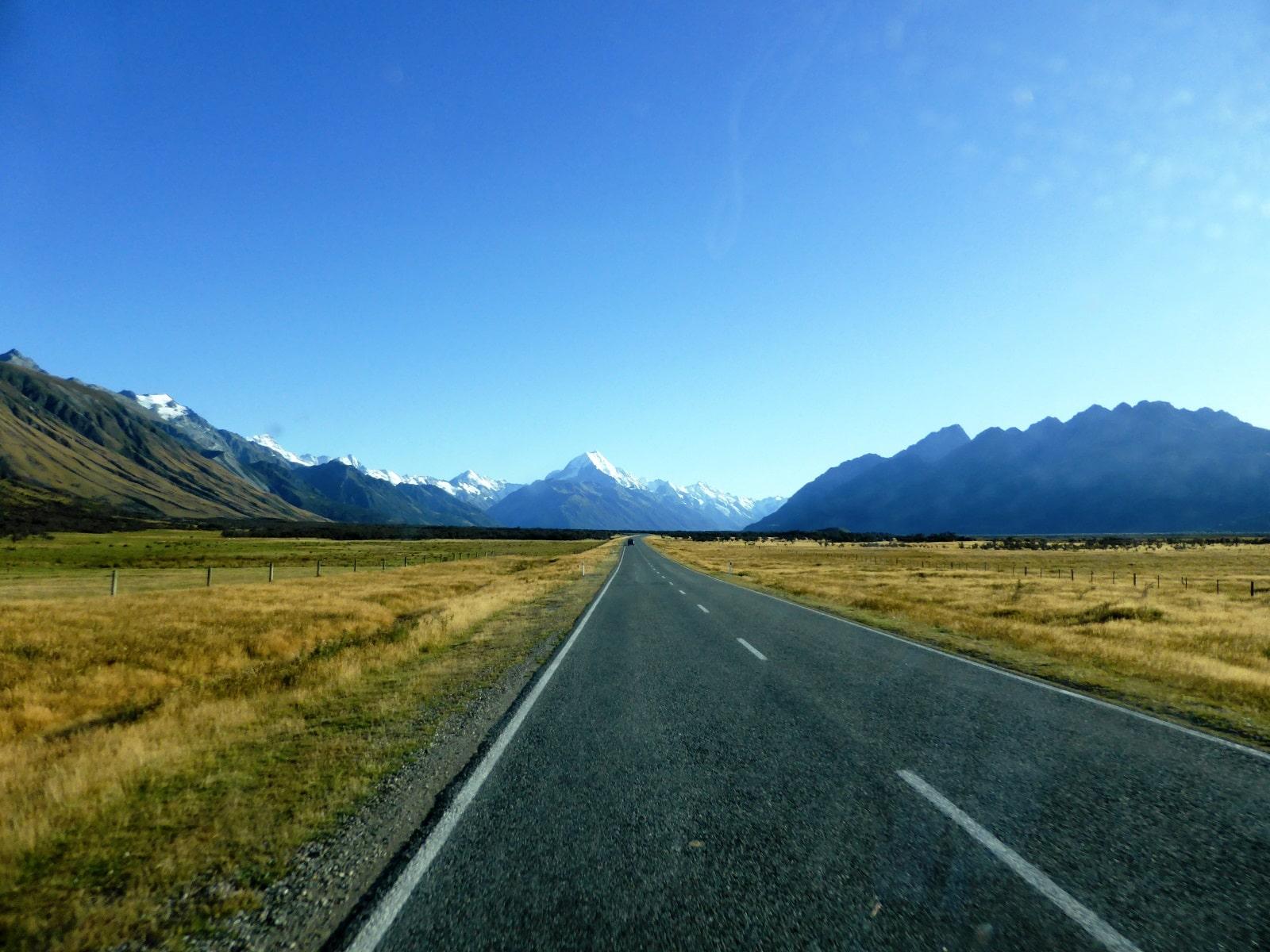 Road trip en van dans l'île du Sud de Nouvelle Zélande