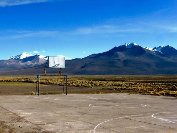 Terrain de basket Sajama-Bolivie