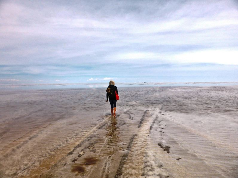 Seuls au milieu du salar-Bolivie
