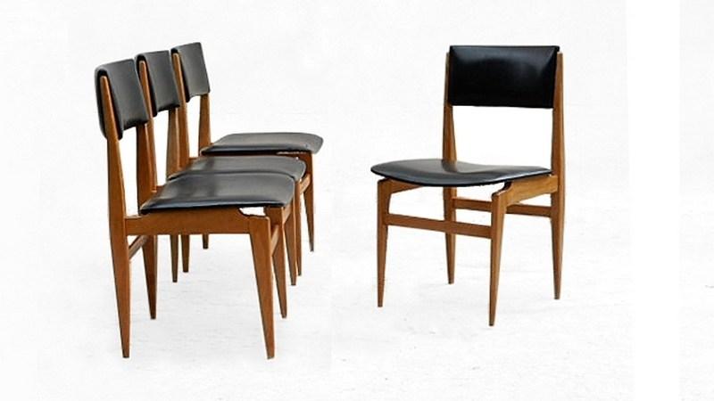 chaises scandinave en teck vintage 1960